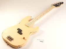 BLEM - Vintage Cream Slick SLPB Solid Ash Bass Guitar Maple Fingerboard SLick Alnico Pickup