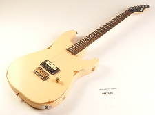 LUTHIER SPECIAL - Slick SL54T Single Pickup Tremolo SOLID Ash Body Vintage Cream