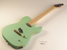 LUTHIER SPECIAL - Slick SL50 Aged Surf Green Dual Single-Coil Pickups Maple Fingerboard