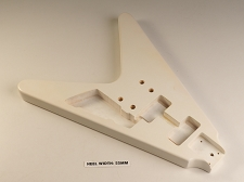 Blem - Flying V Bolt On Body. Solid Poplar- Gloss White