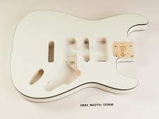 BLEM - Lido ST Double Bound, Double cutaway Body Solid Poplar Arctic White