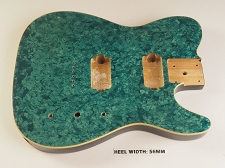 BLEM - Mother of Pearl Single-Cutaway Body 2 Humbuckers Blue Celluloid, Cream Binding