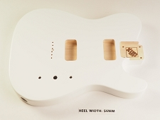 BLEM - Tele Body cut for 2 FILTER'TRON, GF'Tron White Poplar, Arctic White