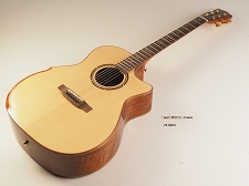 LUTHIER SPECIAL - Black Walnut Xaviere ALL WOOD Premium Cutaway Acoustic/Electric Solid Spruce Top