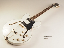 LUTHIER SPECIAL -  PRO920 Semi Hollow, Kwikplug Alnico Soapbars White Gold Hardware