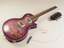 LUTHIER SPECIAL -  PRO500 Carved TopFlamed Maple, Coil Tap Kwikplug Purpleburst