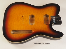BLEM - 2 Humbucker Single-Cutaway body Bound Quilt maple top with binding 3-Tone Sunburst
