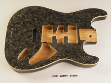 BLEM - Mother of Pearl Double-Cutaway Body, Tremolo Rout,  HSH Charcoal Celluloid, Cream Binding