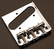 LEFTY 3 Brass Saddle Bridge Chrome - Fits Tele®