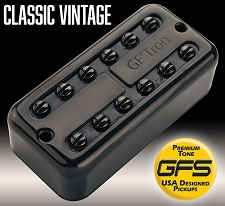 GF'Tron Black Classic Vintage Alnico II Pickups fits Filter'Tron