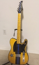 By Ron --Thin Blue Line Tele With All GFS parts except for duty belt and patches