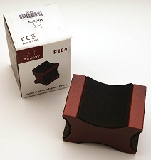 Four Sided wooden neck rest with soft foam surfaces