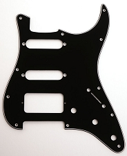 Filter-Tron-Fit 3-Ply Black HSS pickguard to fit Strat