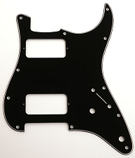 Filter-Tron-Fit 3-Ply Black 2-Humbucker pickguard to fit Strat