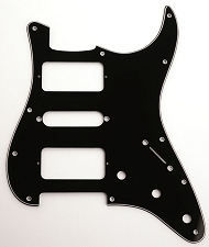H-S-H Filter'Tron-Fit 3-Ply Black pickguard to fit Strat