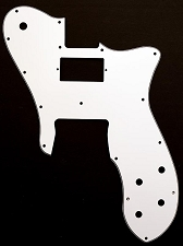 Tele Custom Neck Standard Humbucker, Bridge single style Pickguard White 3-Ply