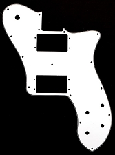 Tele Deluxe 2 Oversized Humbucker Pickguard White 3-Ply