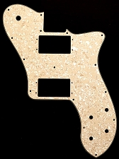 Tele Deluxe 2 Oversized Humbucker Pickguard Mother of Pearl