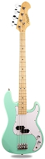 PB Bass Alder Body Maple Neck Surf Green Maple Fingerboard