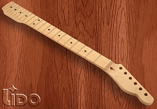 Lido Hard Rock Maple 22 Fret Tele Neck, Maple Fingerboard, NO FINISH