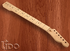 Lido Hard Rock Maple 21 Fret Tele Neck, Maple Fingerboard, NO FINISH