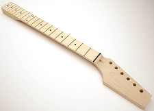 GF Basics 21 Fret ST Neck Maple NO FINISH Paddle Headstock