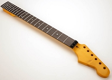 GF Basics 22 Fret ST Floyd Rose Neck Rosewood Glossy Amber Lock Nut Installed!