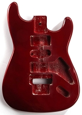 GF Basics Floyd Rose Cut ST Style Body Candy Apple Red Full USA Thickness