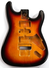 Clearance - GF Basics Floyd Rose Cut ST Style Body Sunburst Full USA Thickness