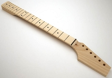 GF Basics 21 Fret TE Neck Maple NO FINISH Paddle Headstock