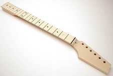 GF Basics 22 Fret TE Neck Maple NO FINISH Paddle Headstock
