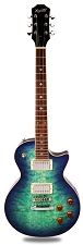 NEW! PRO510 QUILT Maple Top, GFS Coil Tap Kwikplug Pickups, Blueburst