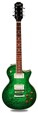 NEW! PRO510 QUILT Maple Top, GFS Coil Tap Kwikplug Pickups, Greenburst