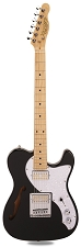 PRO845 Gloss Black Thinline Alder Body Kwikplug Gold Foil Pickups maple