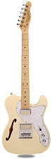PRO845 Vintage Cream Thinline Alder Body Kwikplug Gold Foil Pickups maple