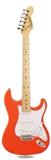 PRO870 Capri Orange, Solid Alder, Kwikplug Alnico Pickups Maple Fingerboard