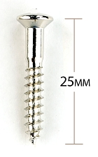 Chrome Import Topmount Bridge Mounting Screws - Package of 12 pcs.