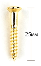 Gold Import Topmount Bridge Mounting Screws - Package of 12 pcs.
