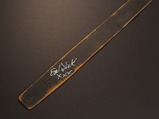 Handmade Slickstraps - Earl Slick Autographed! Leather Strap- Hand Painted Black