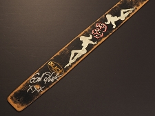 Handmade Slickstraps - Earl Slick Autographed! Leather Strap- Mudflap Girls - Black
