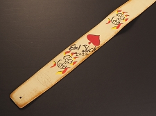 Handmade Slickstraps - Earl Slick Autographed! Leather Strap- Tumbling Dice - Ivory