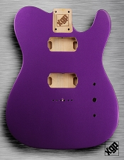 Tele Body cut for 2 Humbucker, White Poplar, Purple Haze Metallic