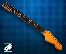 XGP Premium Hard Rock Maple 22 Fret Strat Neck, Amber Rosewood Fingerboard