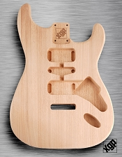 Solid Mahogany Double Cutaway ST Body, No Finish