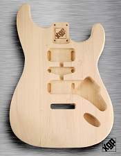 Solid White Poplar Double Cutaway ST Body, No Finish