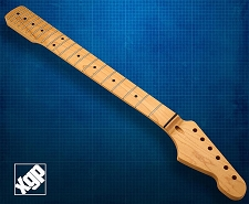 XGP Premium Hard Rock Maple 21 Fret Strat Neck, Maple Fingerboard