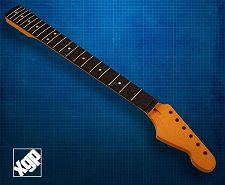 XGP Premium Hard Rock Maple 21 Fret Strat Neck, Amber Rosewood Fingerboard