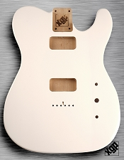 Tele Body cut for 2 FILTER'TRON, GF'Tron White Poplar, Arctic White
