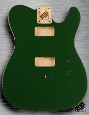 Tele Body cut for 2 FILTER'TRON, GF'Tron White Poplar, British Racing Green