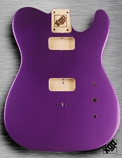 Tele Body cut for 2 FILTER'TRON, GF'Tron White Poplar, Purple Haze Metallic